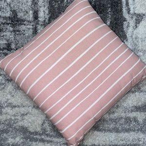 Pink & White Throw Pillow